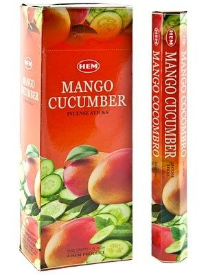 HEM Hexagon Mango Cucumber Incense 6 Pack - Rivendell Shop NZ