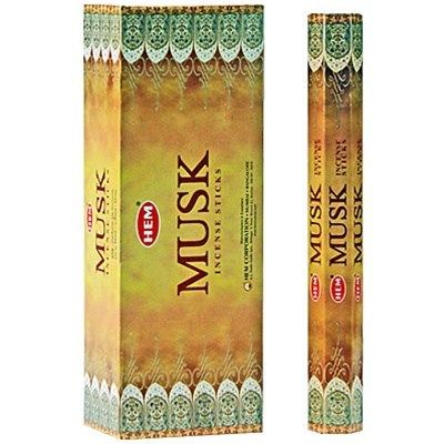 HEM Hexagon Musk Incense 6 Pack - Rivendell Shop NZ