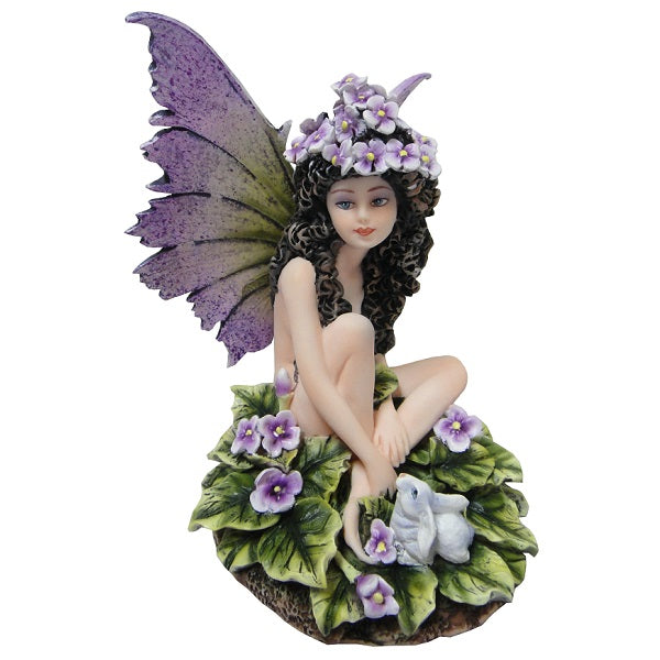 Sitting Fairy with Rabbit - Rivendell Shop