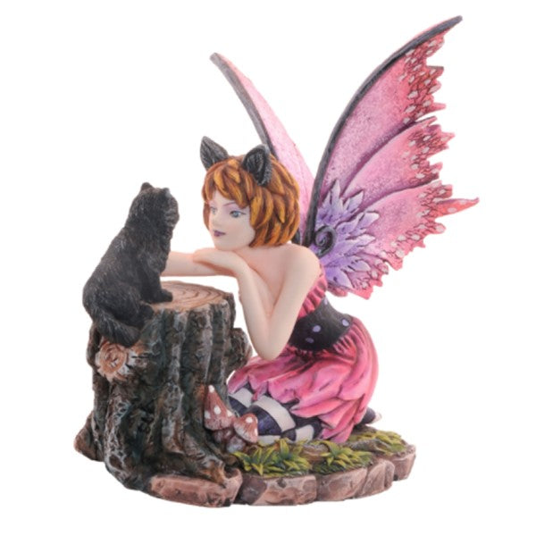 Fairy Looking at Black Cat - Rivendell Shop