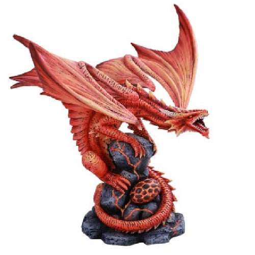 Large Fire Dragon Statue - Anne Stokes - Rivendell Shop NZ