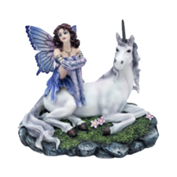 Fairy with White Unicorn - Rivendell Shop