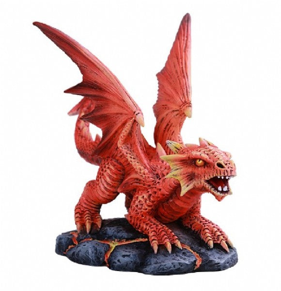 Baby Fire Dragon Statue - Anne Stokes - Rivendell Shop