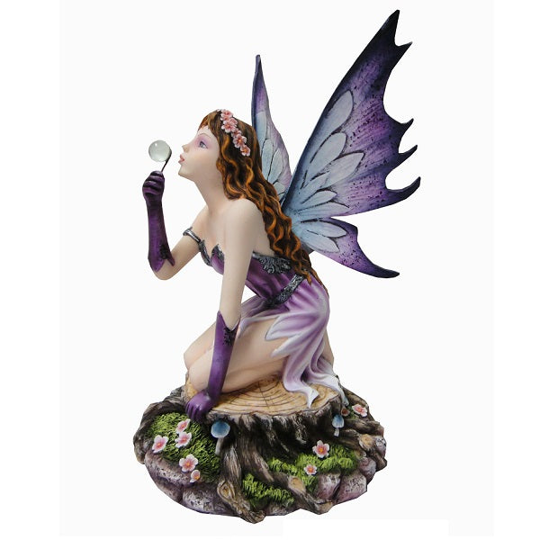 Fairy Sitting on Tree Stool - Rivendell Shop