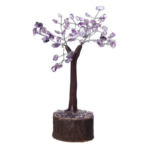 Amethyst Crystal Tree on Wooden Base (Mini) - Rivendell Shop