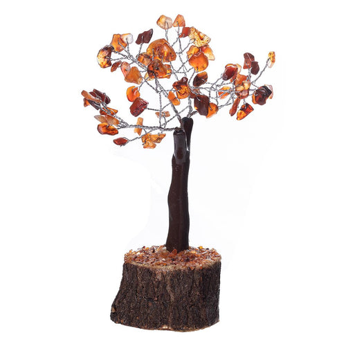 Carnelian Crystal Tree on Wooden Base (Mini) - Rivendell Shop