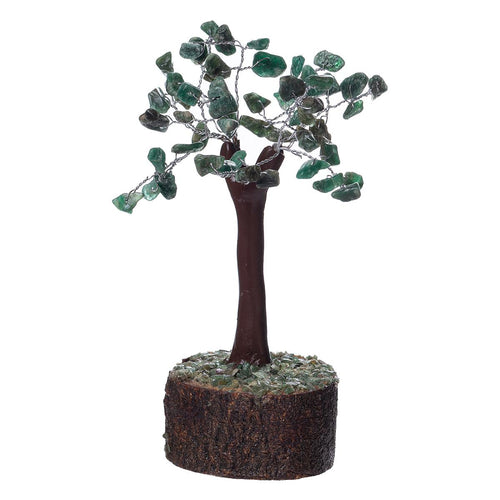 Green Aventurine Crystal Tree on Wooden Base (Mini) - Rivendell Shop