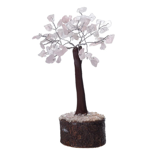 Rose Quartz Crystal Tree on Wooden Base (Mini) - Rivendell Shop