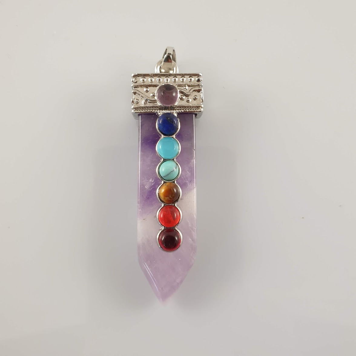 Chakra Amethyst Crystal Point Pendant - Rivendell Shop NZ