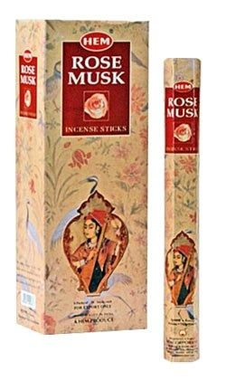 HEM Hexagon Rose Musk Incense 6 Pack - Rivendell Shop NZ