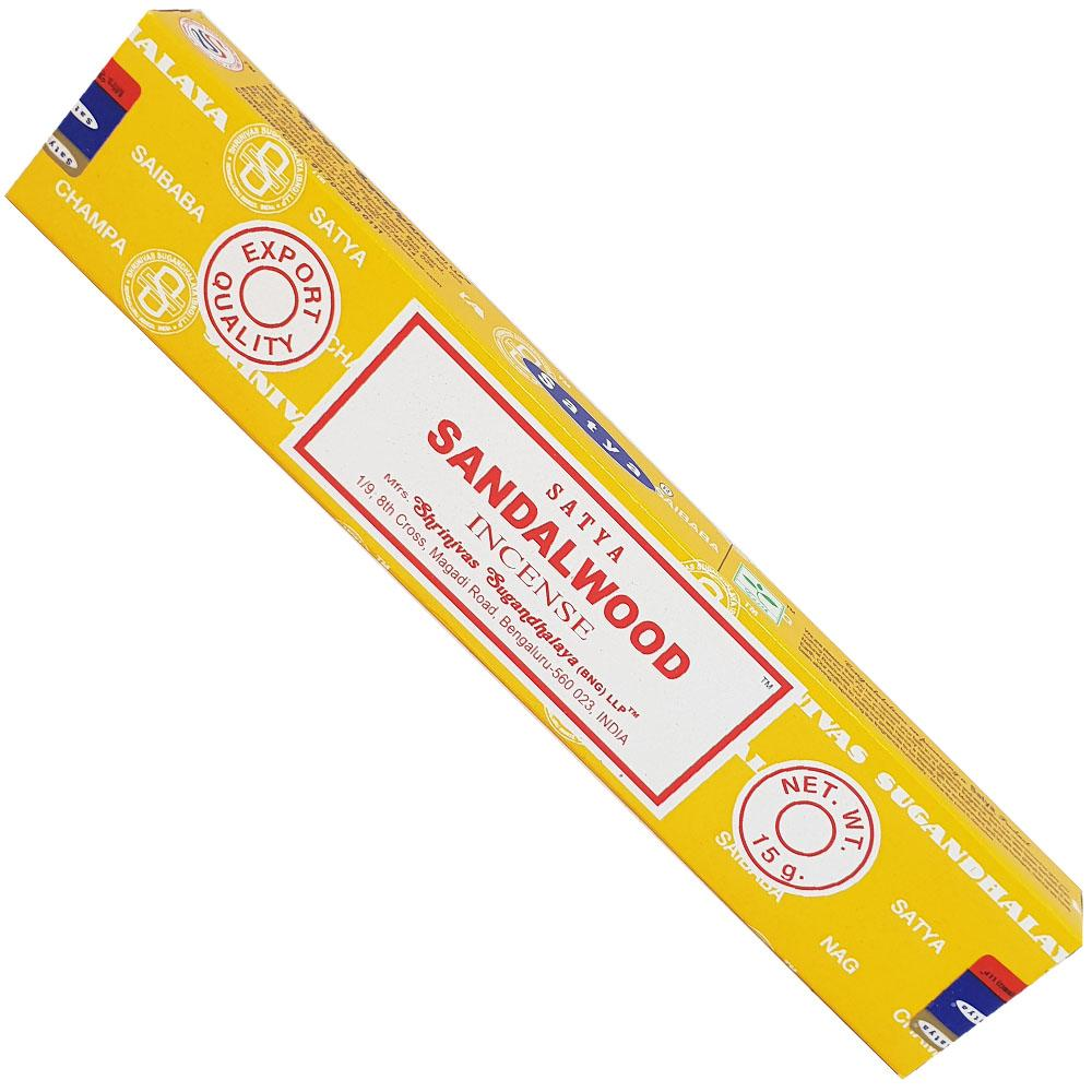 Satya Sandalwood Incense 15gm - Rivendell Shop NZ