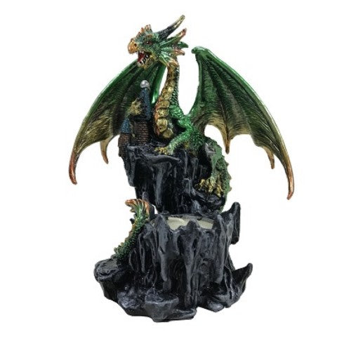 Green Dragon Tealight and Incense Holder - Rivendell Shop NZ