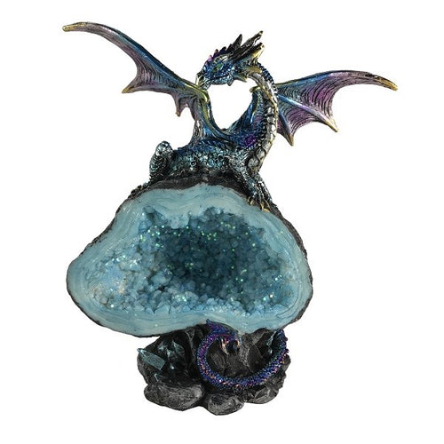 Dragon on Blue Crystal - Rivendell Shop NZ