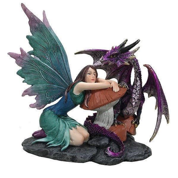 Fairy with Purple Dragon - Rivendell Shop NZ