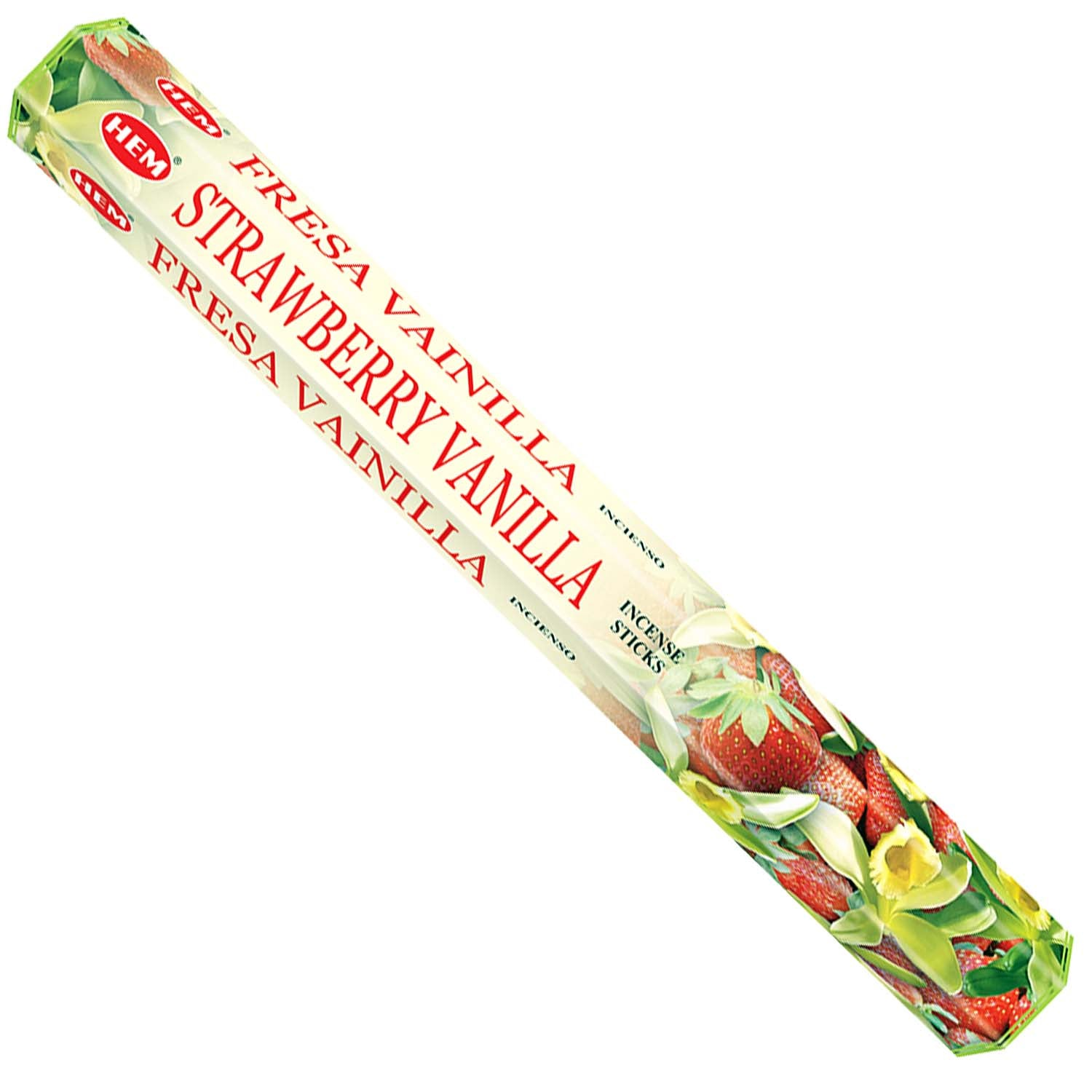 HEM Hexagon Strawberry Vanilla Incense 6 Pack - Rivendell Shop NZ