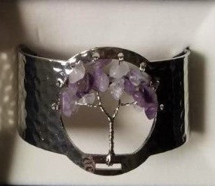 Amethyst Tree of Life Silver Plated Bracelet - Rivendell Shop