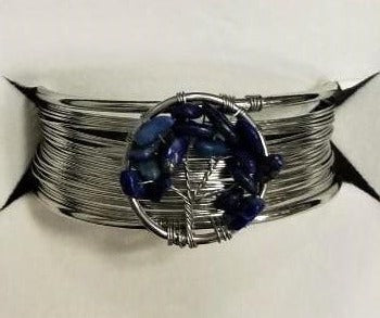 Lapis Lazuli Tree of Life Bracelet - Rivendell Shop NZ