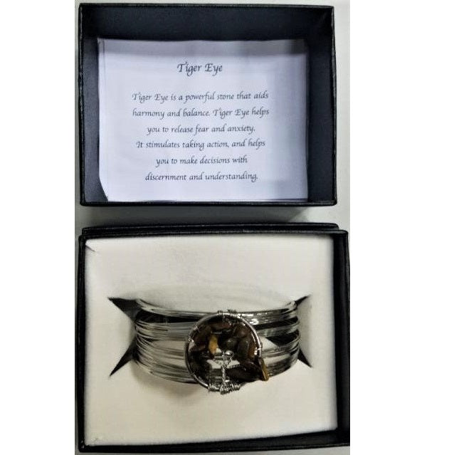 Tiger's Eye Tree of Life Bracelet - Rivendell Shop NZ