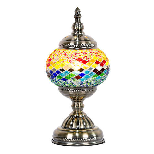 Sunset Round Turkish Mosaic Lamp - Rivendell Shop NZ