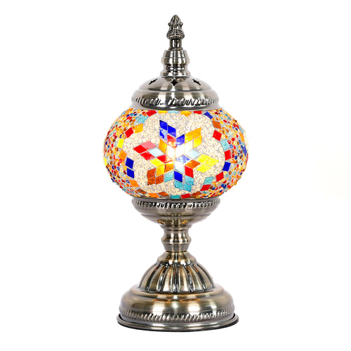 Rainbow Round Turkish Mosaic Lamp - Rivendell Shop NZ