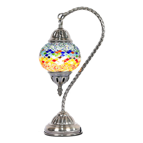 Sunset Swan Neck Turkish Mosaic Lamp - Rivendell Shop NZ