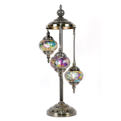 Violet Three Tier Luxury Turkish Mosaic Lamp - Rivendell Shop NZ