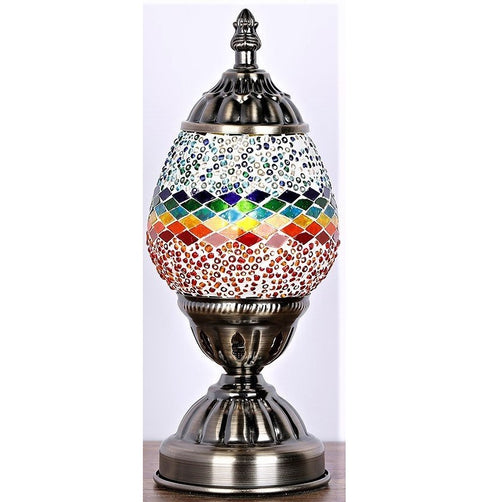 Rainbow Oval Turkish Mosaic Lamp - Rivendell Shop NZ