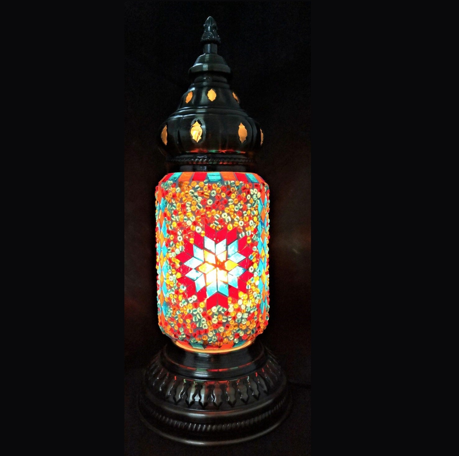 Turkish Mosaic Lamp Ottoman Style VI - Rivendell Shop NZ