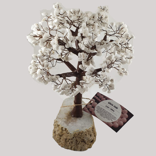 White Jade Crystal Tree on Agate Base - Rivendell Shop