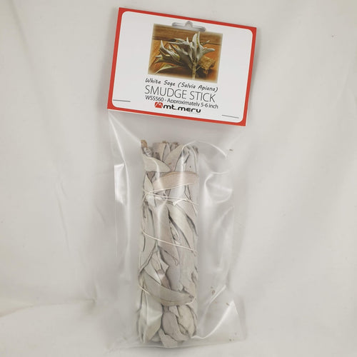 White Sage Smudge Stick 5-6 Inch - Rivendell Shop NZ