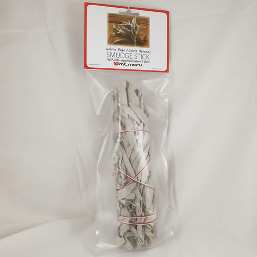 White Sage Smudge Stick 7 Inch - Rivendell Shop NZ