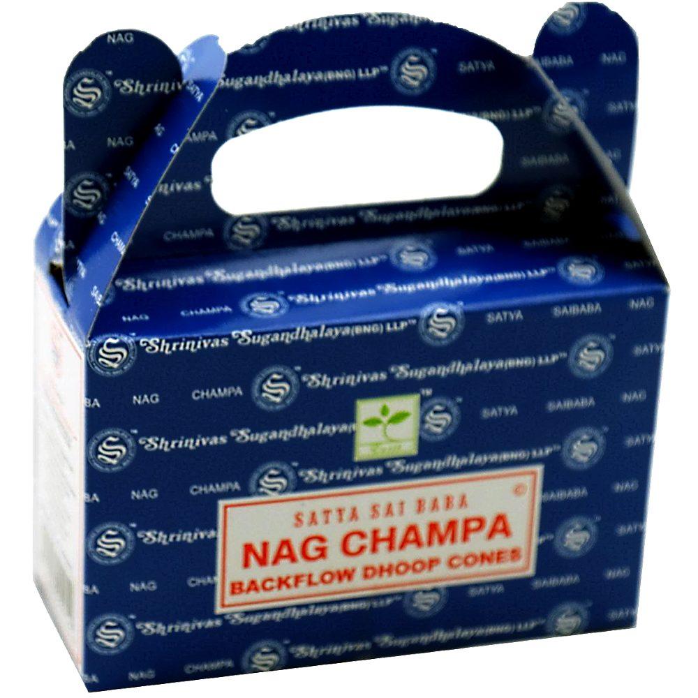 Satya Nag Champa Backflow Incense Cones - Rivendell Shop