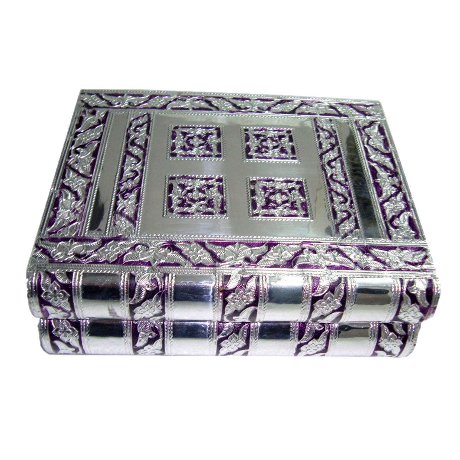 Purple and Silver Jewellery Box - Rivendell Shop NZ