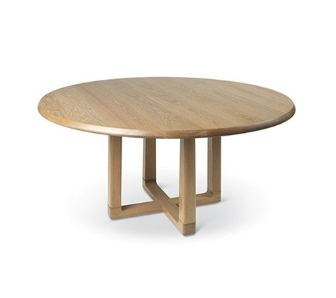Astrid Round Dining Table With Wood Base