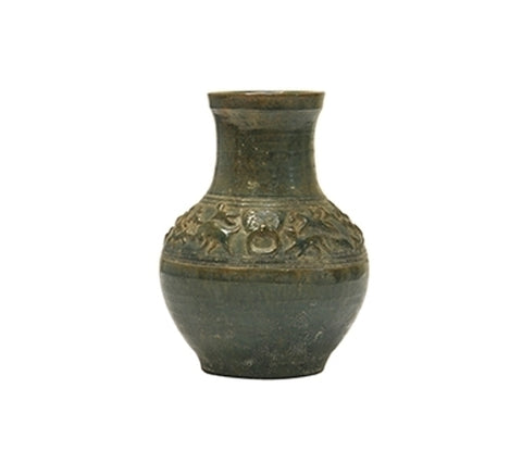 HAN STYLE JAR WITH RUNNING BEASTS, SMALL, LONG NECK
