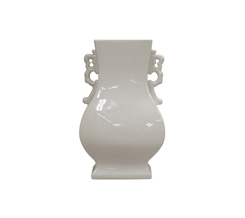 BLANC DE CHINE VASE WITH HANDLES