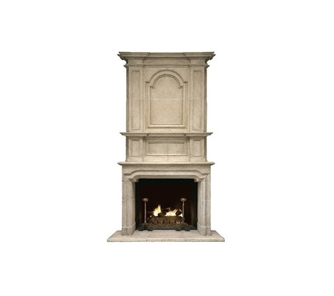 ST. LOUIS FIREPLACE WITH OVERMANTLE