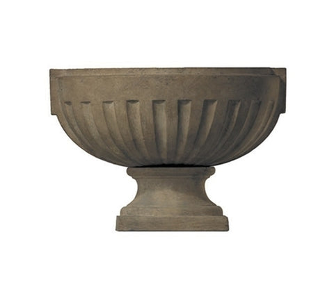 OVAL FLUTED URN ON BASE