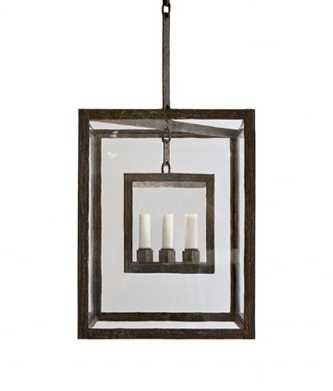 CUBIC LANTERN - SMALL - CLEAR GLASS
