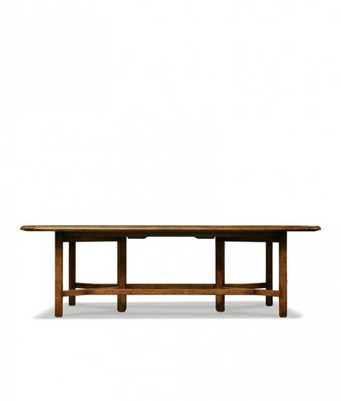 MARKET DINING TABLE W/RECESSED STRETCHER