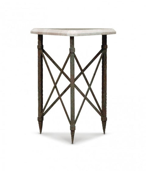 IRON TRIANGULAR SIDE TABLE