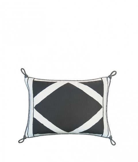 LATTICE PILLOW - SLATE