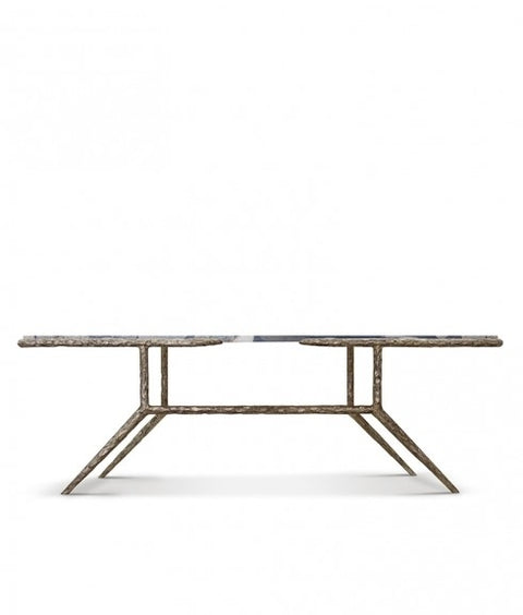 RENZO COFFEE TABLE W/GILDED FINISH