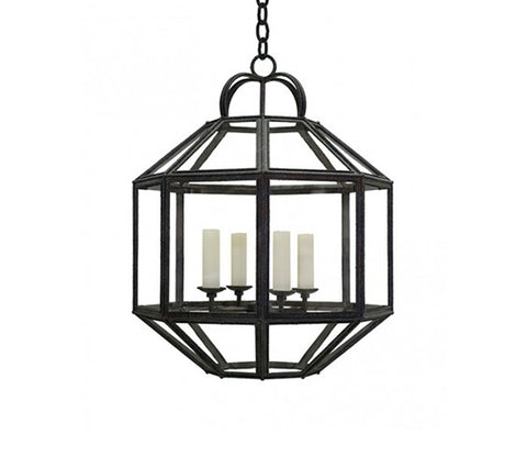UMBRIAN LANTERN - CLEAR GLASS