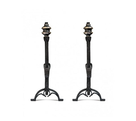 PAIR OF BORDEAUX ANDIRONS