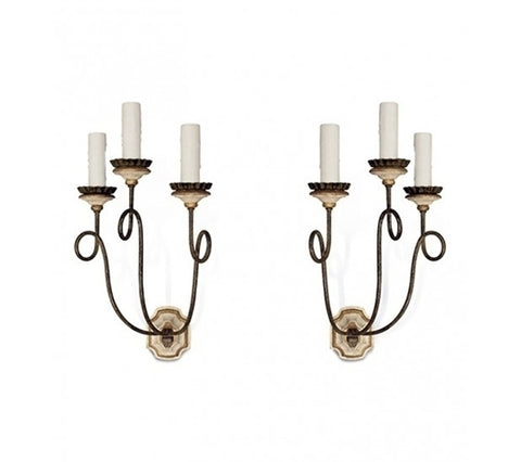 PORTOFINO SCONCES, PAIR