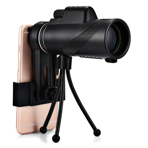 Beileshi 40 x 60 HD Monocular Fieldglass Waterproof Mini Telescope for Cell Phone Shoot