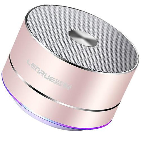 LENRUE Portable Wireless Bluetooth Speaker Stereo Portable Led Speakers with Built Mic MP3 MINI Subwoof Smart Column Loudspeaker