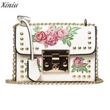 Top brand Women Messenger Bags Embroidery Rose