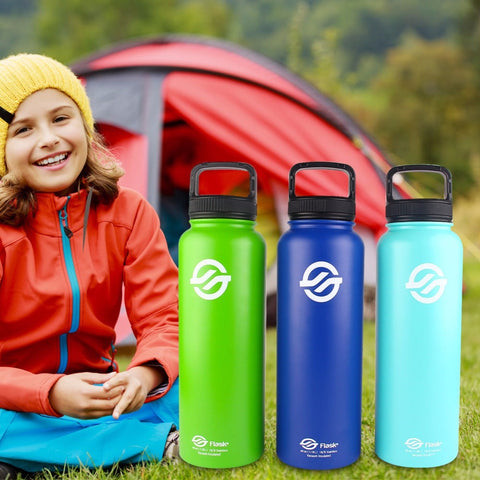 High Quality 40oz Double Wall Vacuum Insulated Stainless Steel Water Bottle Double Wall Flask & Hydro Guide